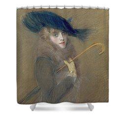 Elegant Lady Shower Curtain by Paul Cesar Helleu