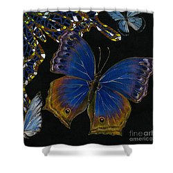Elena Yakubovich - Butterfly 2x2 Lower Right Corner Shower Curtain by Elena Yakubovich