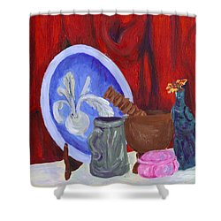 Elephant And Stuff Shower Curtain