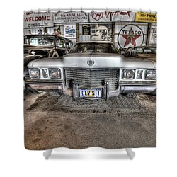 Elvis' Cadillac Shower Curtain