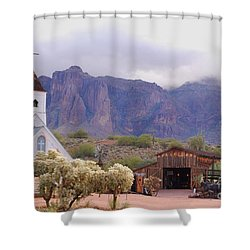 Shower Curtain featuring the photograph Elvis Memorial Chapel by Tam Ryan