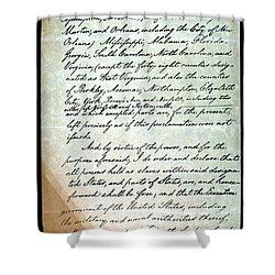 Emancipation Proc., P. 3 Shower Curtain by Granger
