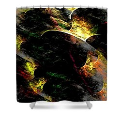 Embers Shower Curtain by Greg Moores