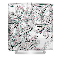 Embossed Crotons Shower Curtain by Tom Wurl