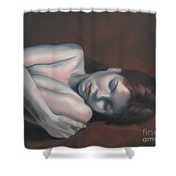 Embrace Shower Curtain by Jindra Noewi