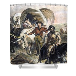 Emigrants To West, 1874 Shower Curtain by Granger
