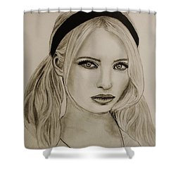 Emily Shower Curtain by Michael Cross