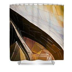 Emp Curves Shower Curtain by Chris Dutton