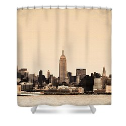 Empire State Building Shower Curtain by Bill Cannon
