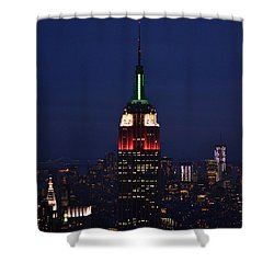 Shower Curtain featuring the photograph Empire State Building1 by Zawhaus Photography