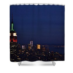 Shower Curtain featuring the photograph Empire State Building3 by Zawhaus Photography