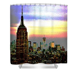 Shower Curtain featuring the photograph Empire State Building4 by Zawhaus Photography