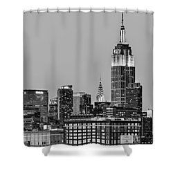 Empire State Bw Shower Curtain by Susan Candelario