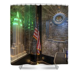 Empire State Model Shower Curtain by Yhun Suarez
