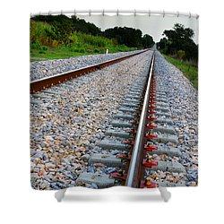 Empty Railway Shower Curtain by Carlos Caetano