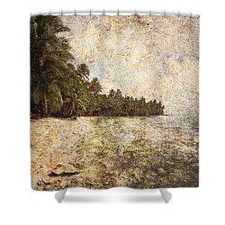 Empty Tropical Beach 2 Shower Curtain by Skip Nall