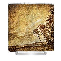 Empty Tropical Beach 3 Shower Curtain by Skip Nall