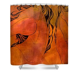 En Gallop Shower Curtain
