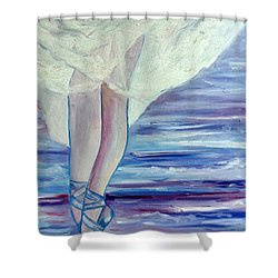 Shower Curtain featuring the painting En Pointe by Julie Brugh Riffey