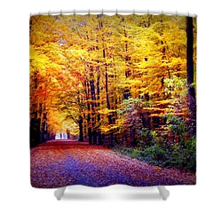 Enchanted Fall Forest Shower Curtain by Carol Groenen