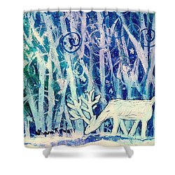 Enchanted Winter Forest Shower Curtain by Shana Rowe Jackson