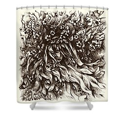 Enchantment Shower Curtain by Rachel Christine Nowicki