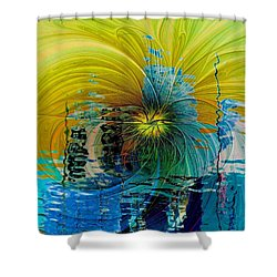 End Of Days Shower Curtain by Amanda Moore