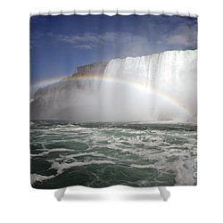 End Of The Rainbow Shower Curtain by Amanda Barcon