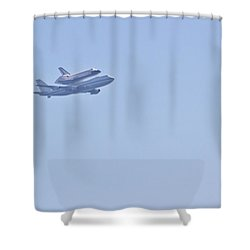 Endeavour Flyover Shower Curtain by Heidi Smith