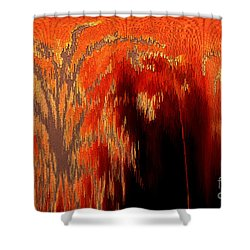 Endless Pit Shower Curtain by Donna Brown