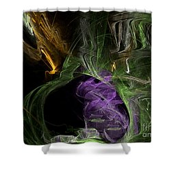 Energies Align Shower Curtain