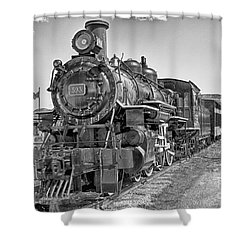 Engine 593 Shower Curtain by Eunice Gibb