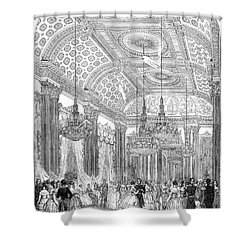 England - Royal Ball 1848 Shower Curtain by Granger