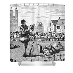 England: Beheading, 1554 Shower Curtain by Granger