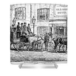 England: Coaching, 1876 Shower Curtain by Granger