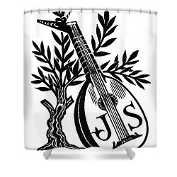 English Bookplate Shower Curtain by Granger