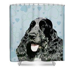 English Cocker Spaniel Shower Curtain by One Rude Dawg Orcutt