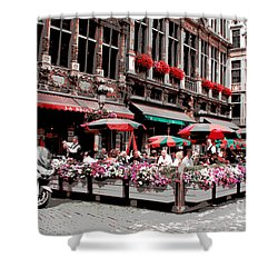 Enjoying The Grand Place Shower Curtain by Carol Groenen