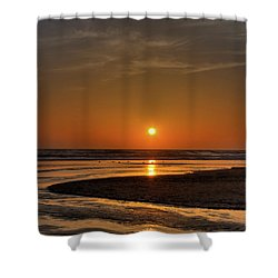 Enjoying The Sunset Shower Curtain