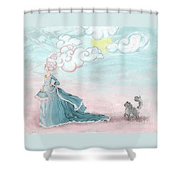 Enter Lady Spring Shower Curtain