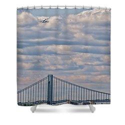 Enterprise 1 Shower Curtain by S Paul Sahm