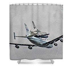 Enterprise 7 Shower Curtain by S Paul Sahm