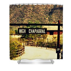 Entrance To The High Chaparral Ranch Shower Curtain by Susanne Van Hulst