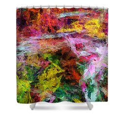 Entusiasmo Shower Curtain by RochVanh