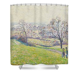 Epping Landscape Shower Curtain by Camille Pissarro