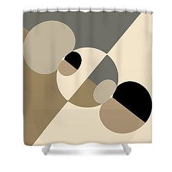 Equilibrium Shower Curtain by Mark Greenberg