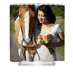 Equine Companion Shower Curtain by Sri Maiava Rusden