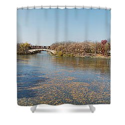 Shower Curtain featuring the photograph Erie Canal Panorama by William Norton