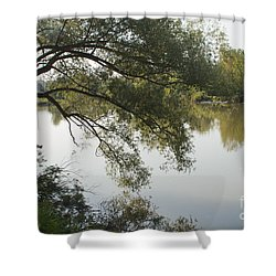 Shower Curtain featuring the photograph Erie Canal Turning Basin by William Norton