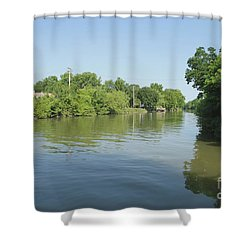 Shower Curtain featuring the photograph Erie Canal by William Norton